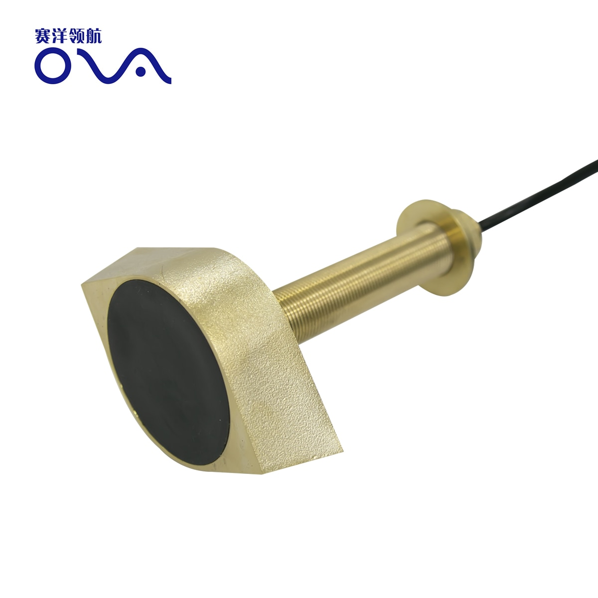 Depth measurement ultrasonic transducer bronze thru hull 200khz depth finder transducer