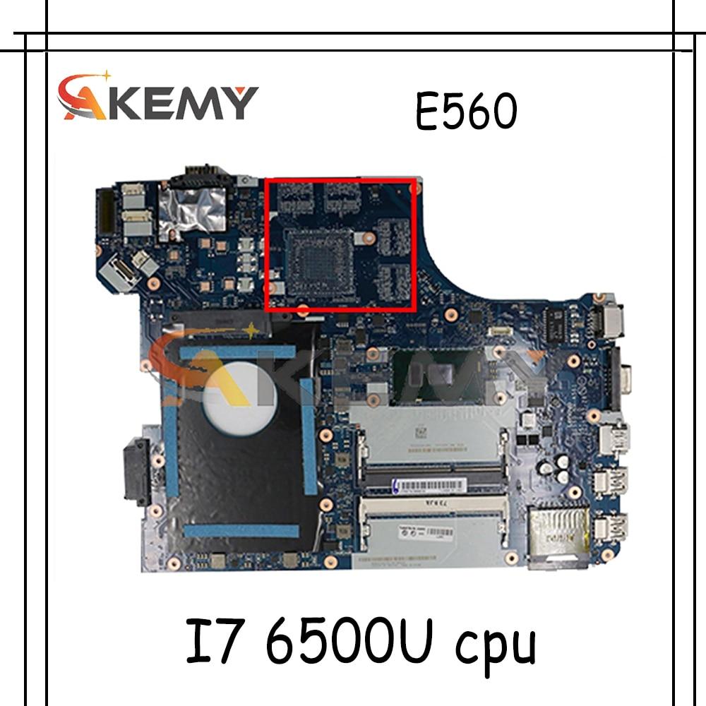 Akemy BE560 NM-A561 اللوحة لينوفو ثينك باد E560 E560C اللوحة المحمول CPU I7 6500U DDR3 100% اختبار العمل