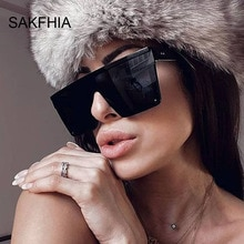 Vintage Black Square Sunglasses Women Luxury Brand Designer Sun Glasses Female Sexy Big Frame Candy