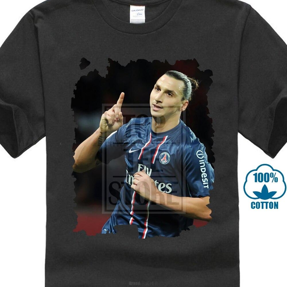 Златан Ибрагимович принт Мужская футболка лето различных цветов Высокое качество 100%
