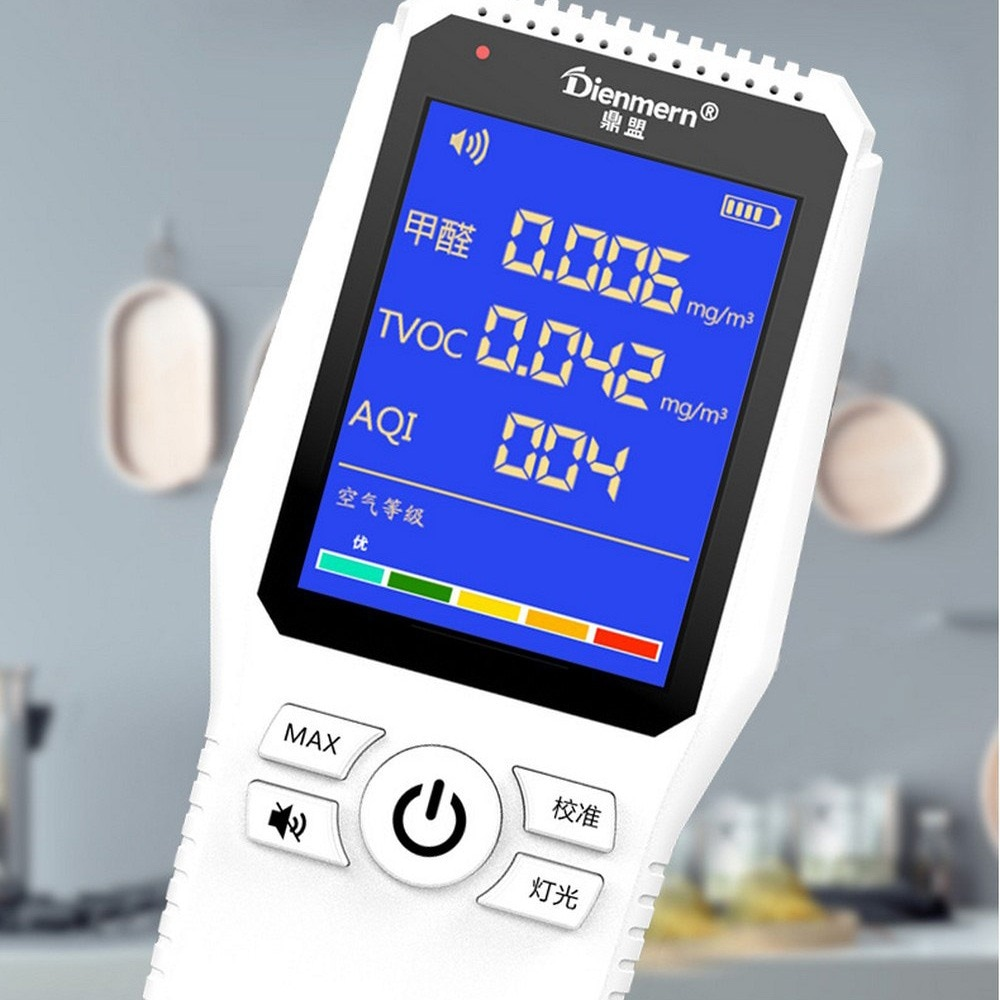 Detector de control de calidad del aire de formaldehído TPV AQI prueba profesional hogar Detector de Gas de formaldehído instrumento de calidad del aire
