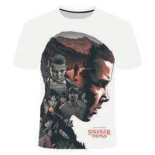 American Tv Stranger Things 3 ropa de niños/niñas, camiseta Casual 3d, camiseta Stranger Thing, camiseta familiar