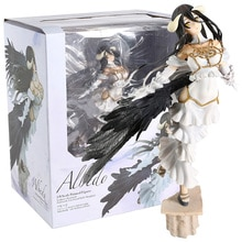 Figuras de la colección de juguetes de PVC de la figura de acción del Anime de la muchacha atractiva de albedo para los regalos de los Amigos