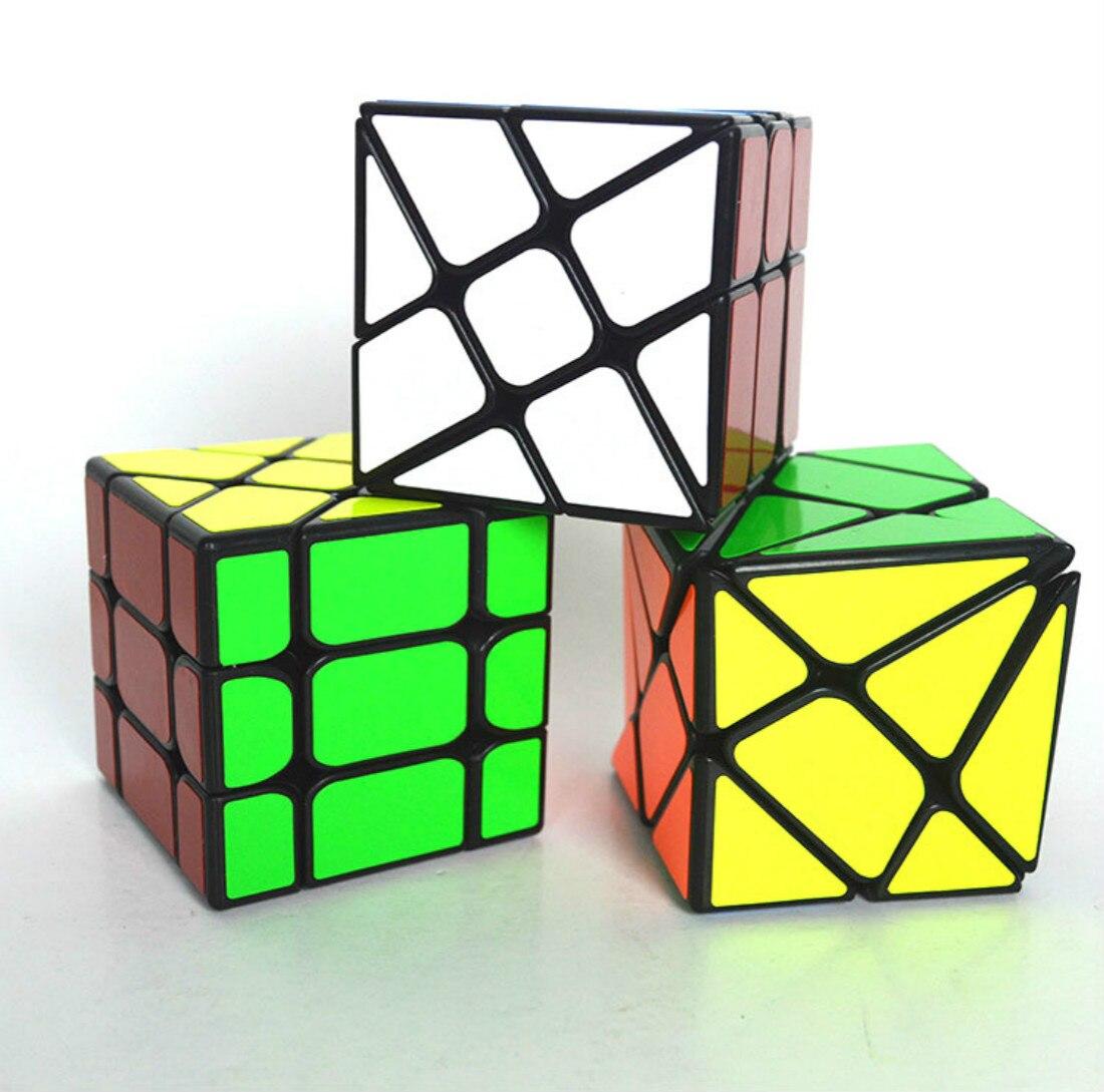 3 unids/set Cubo Yongjun Cubo con ejes Cubo Fisher Hot-wheel Cubo mágico Magio Cubo Juguetes Para Calcomanía para niños versión Puzzle