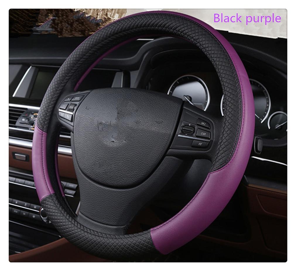 Funda de volante de alta calidad de 37-38 cm de diámetro para BMW 530d 130i 330e M235i 520d 518d 428i Compact