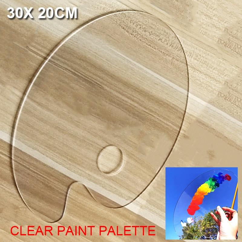 Acrylic Paint Palette Transparent Clear Gouache Artist Paint Mixing Palette Easy Cleanup for Oil Watercolour Painting Tools