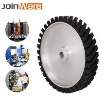 300x50mm Serrated Belt Grinder Contact wheel Rubber Wheel for Abrasive Sanding Belt 1Pc