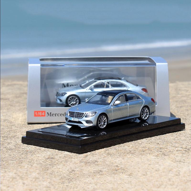 1/64 escala nova liga de metal carro s450l w222 simulação diecast modelo de carro presentes exibir fãs coleção decoração casa