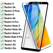 11D Full Curved Screen Protective Glass For Xiaomi Redmi 5 Plus 5A 6 6A 7 7A Tempered Glass Redmi No