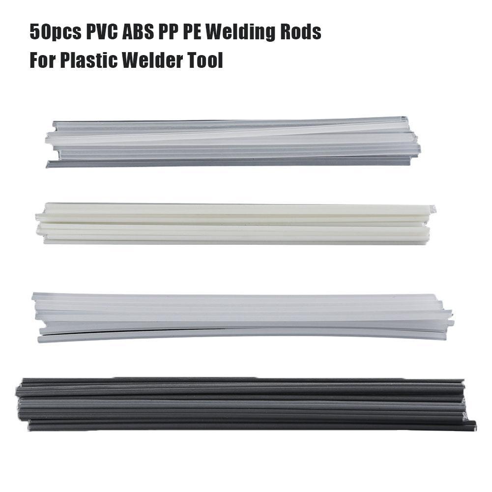 As varas plásticas da soldadura do abs/pp/pvc/pe do reparo abundante das varas da soldadura de 50 pces soldam fontes de solda para o soldador plástico