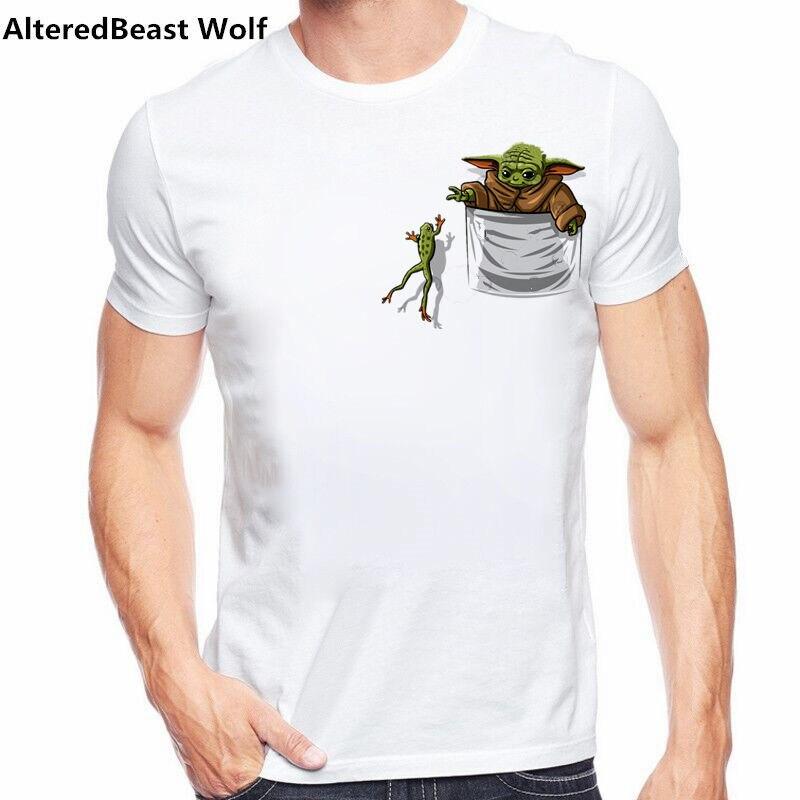 Детские йода Мандалорское Охота лягушки pokemon Забавные топы для мужчин футболка homme, на каждый день, с короткими рукавами и принтом детская футболка Yoda одежда