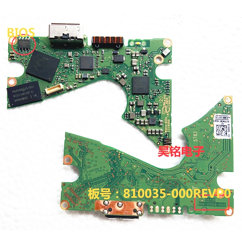 WD 2060-810035-000 مقفلة ثنائي الفينيل متعدد الكلور قفل الدائرة فك التشفير مجلس المنطق ل WD50NDZW WD40NDZW قرص صلب