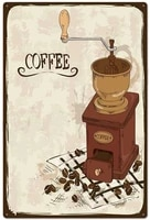 coffee novelty parking retro metal tin sign plaque poster wall decor art shabby chic gift