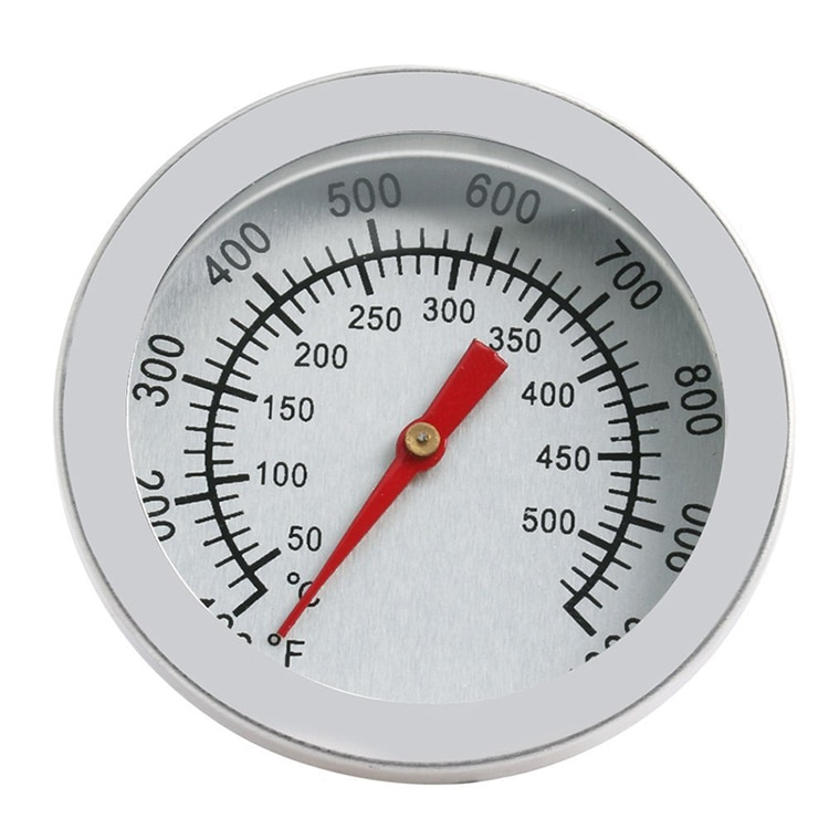 Acier inoxydable Barbecue Barbecue fumeur gril thermomètre thermomètres jauge 50-500 cadran ménage cuisson four température C Ga A1P0