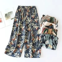 2021 new ladies summer shorts cropped pants thin section soft artificial cotton loose casual home pants can be worn outside