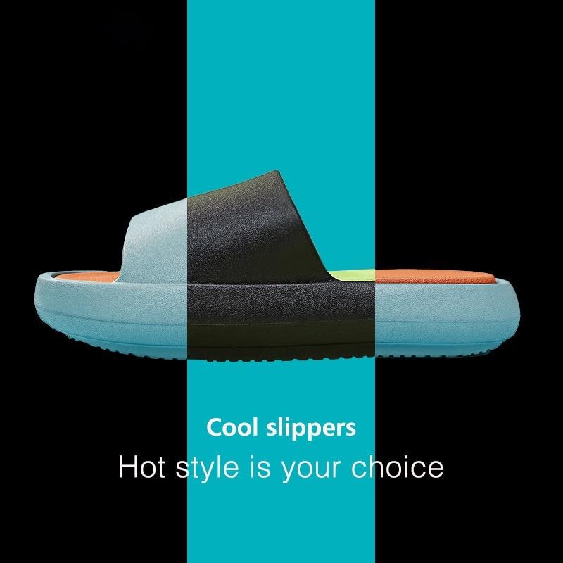 Summer Outside Slippers Men Shoes EVA Soft Outdoor Sneaker Platform Slides Women Thick Sole Non-slip Beach Sandals Indoor