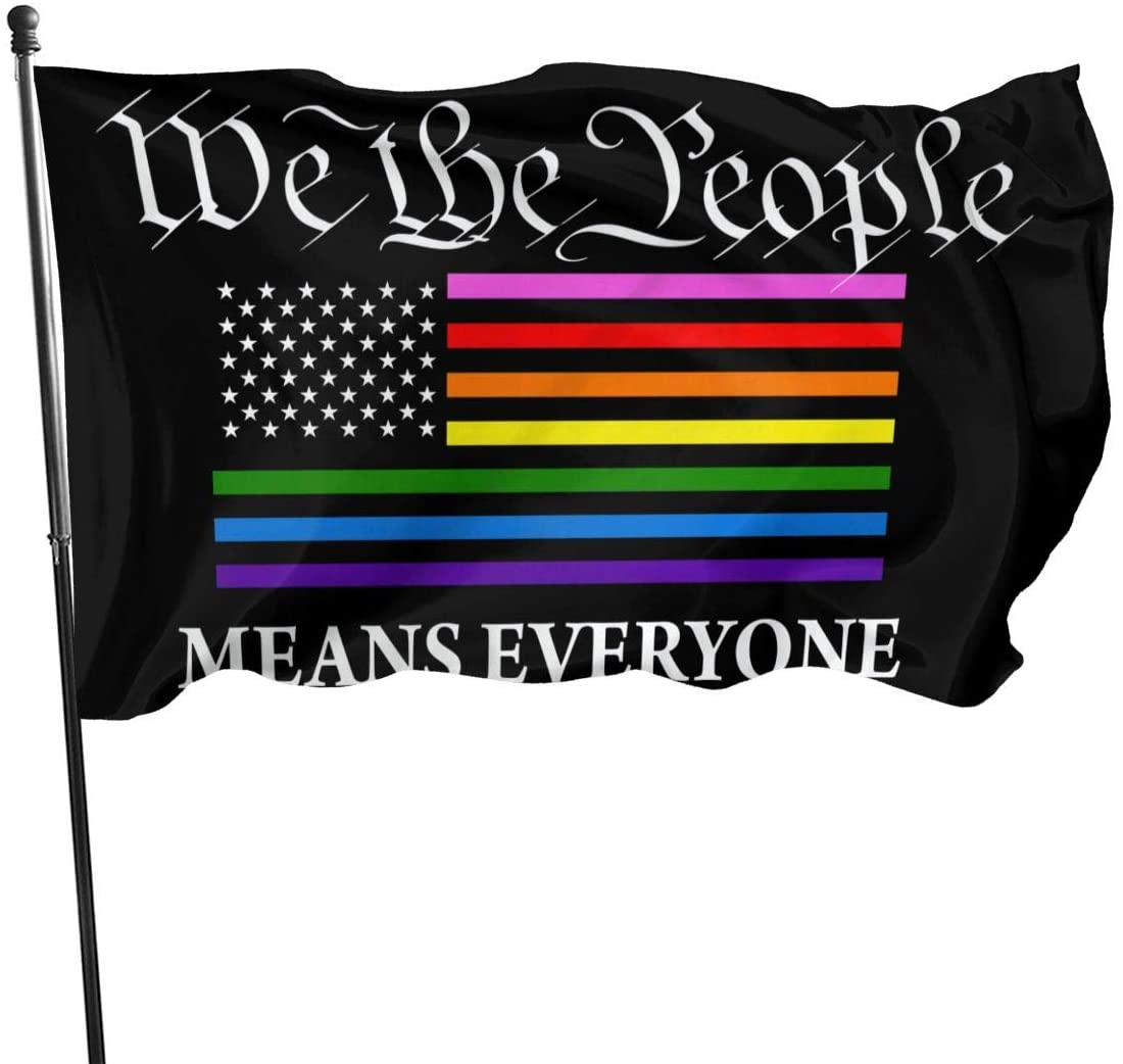 We The People Rainbow Garden Flag Single-Sized Print Decorative Holiday Home 3x5 Ft Flag For Home Ya