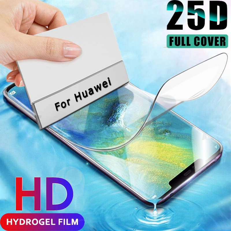 Film Hydrogel pour Huawei P40 Pro Film souple P30 Lite pas verre P 30 40 Mate 20 Lite 30 Pro Mate20 30 P Smart Z protecteur décran