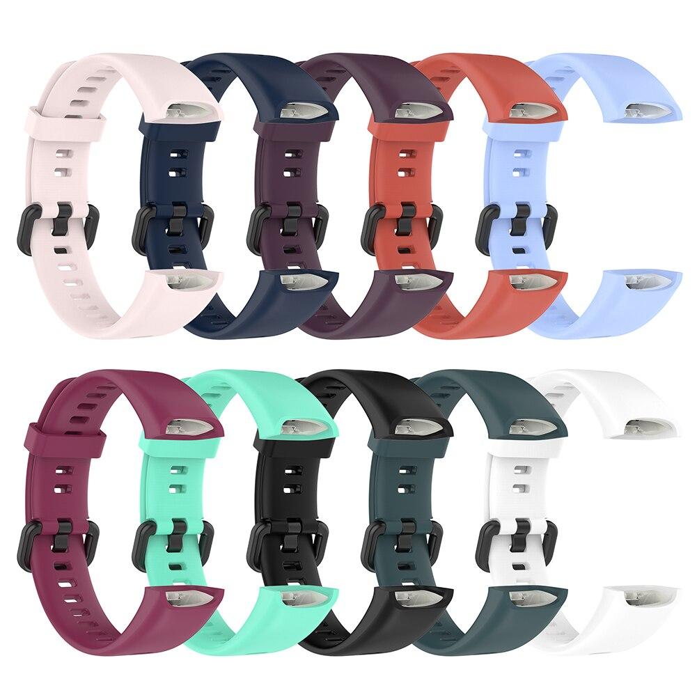 Ремешок силиконовый для смарт-часов, сменный спортивный браслет для Huawei Band 4/Huawei Honor Band 5i