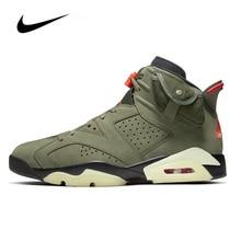 Nike Air Jordan 6 piłka do koszykówki dla mężczyzn buty Travis Scott średnie trampki oryginalne buty do koszykówki Unisex Jordan