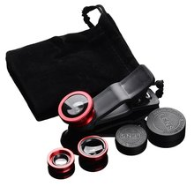 3-in-1 Wide Angle Macro Fisheye Lens Camera Kits Mobile Phone Fish Eye Lenses with Clip 0.67x for Al
