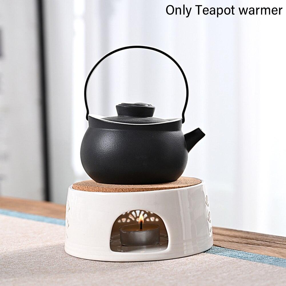 الحفاظ على إبريق الشاي دفئا العزل التدفئة قاعدة شمعة المنزل القهوة السيراميك حامل الشاي المياه المحمولة جوفاء منحوتة