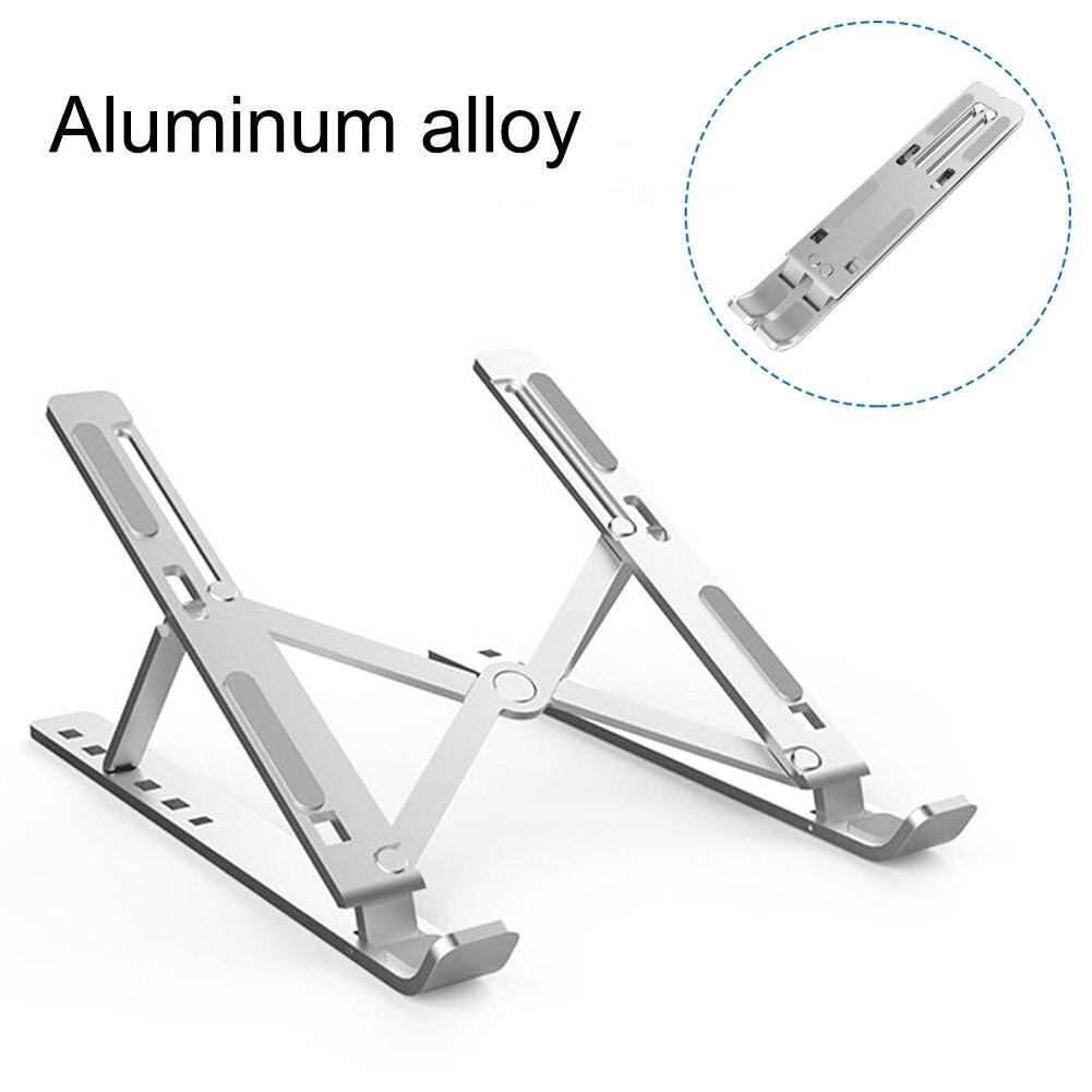 Liga de alumínio ajustável portátil dobrável portátil para ipad macbook laptops suporte de levantamento de resfriamento titular antiderrapante novo