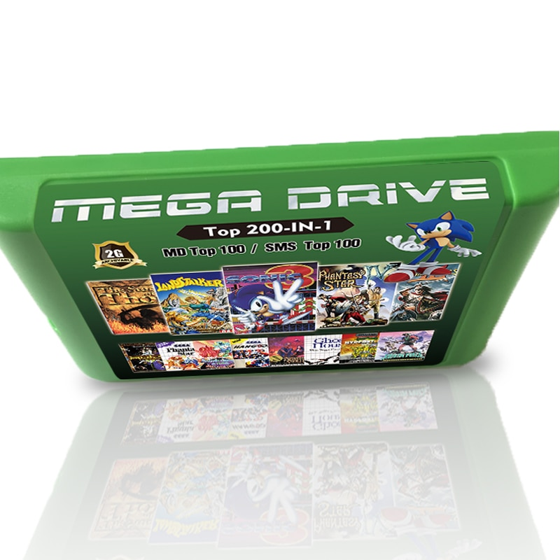 Nueva tarjeta de juego 2G 200 en 1 para Sega Megadrive, consola...