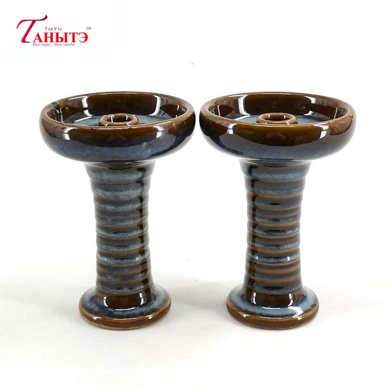 1Pieces Blue Ceramic Hookah Bowl Shisha Charcoal Holder Hookah Head Shisha Tobacco Bowl Hookah Accessories enlarge