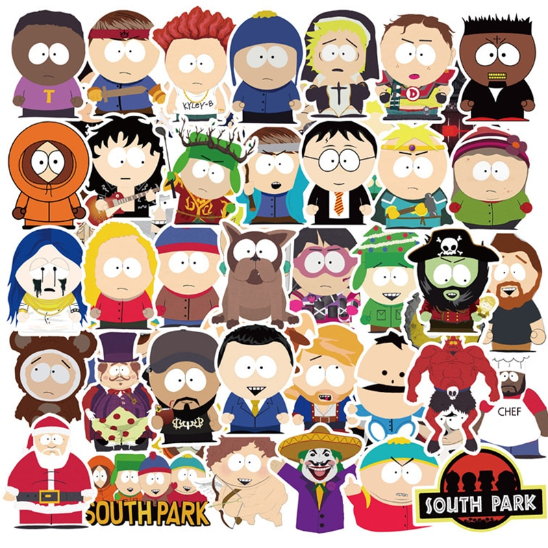 10/30/50PCS Classic Animation Southpark Waterproof Stationery Pvc Sticker Skateboard Suitcase Guitar Luggage For Kid Toy Sticker
