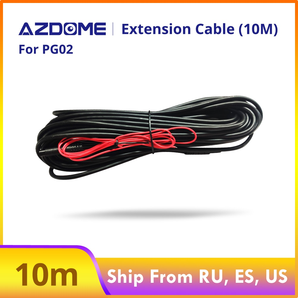 Cable de extensión de 10M para cámaras de seguridad impermeables para vehículos AZDOME PG02 PG12 grabador de vídeo DVR