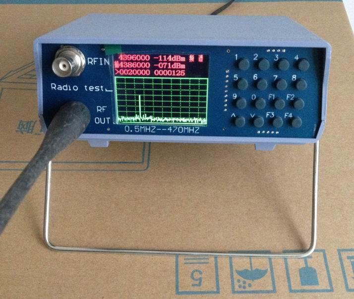 Analisador de espectro simples do analisador duplo do espectro da faixa da frequência ultraelevada vhf de u/v com a fonte de seguimento 136-173 mhz/400-470 mhz