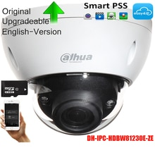 Caméra IP de sécurité DAHUA dorigine caméra réseau de Surveillance dôme IR 12MP DWDR avec DH-IPC-HDBW81230E-ZE POE + IP67 IK10