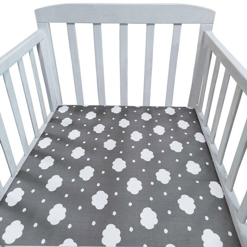 Drap de lit en coton pour nouveau-né   Drap de berceau plat, doux, couverture de matelas pour bébé, ensemble de literie pour bébé