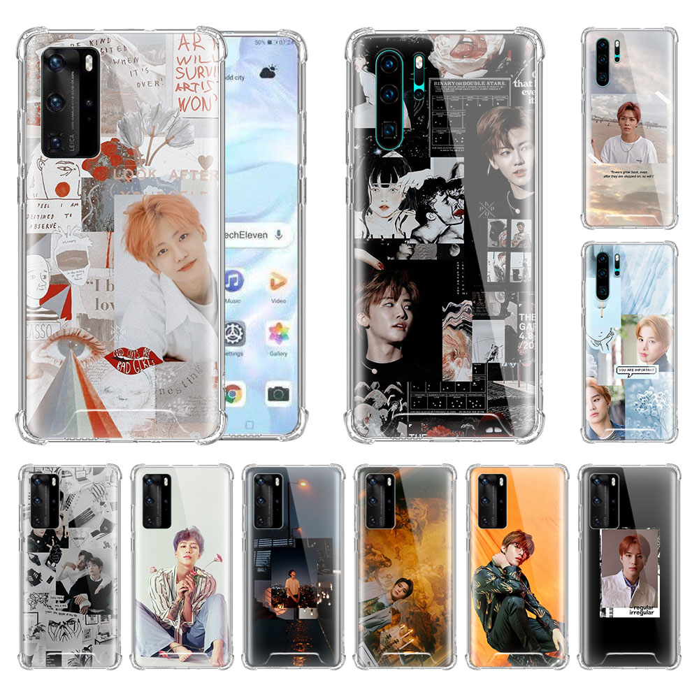Grupo niño NCT 127 Kpop para Huawei P20 P40 Lite P30 Pro P Smart Z Plus 2019 Airbag Anti suave del teléfono de la cáscara del Coque Sac