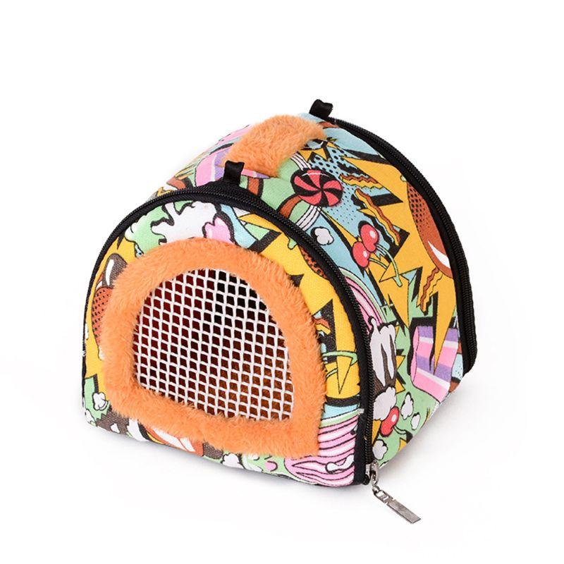 Portable Small Pet Travel Bag Hamster Carrier Breathable Outdoor Hedgehog Bag A69D