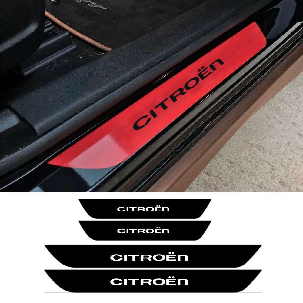 Pegatina para Citroen C4 C1 C5 C3 C6 C-ELYSEE VTS, vinilo, umbral de puerta