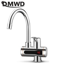 DMWD Electric Instant Hot Water Faucet Stainless Steel Water heater Tankless Tap LED Temperature Dis