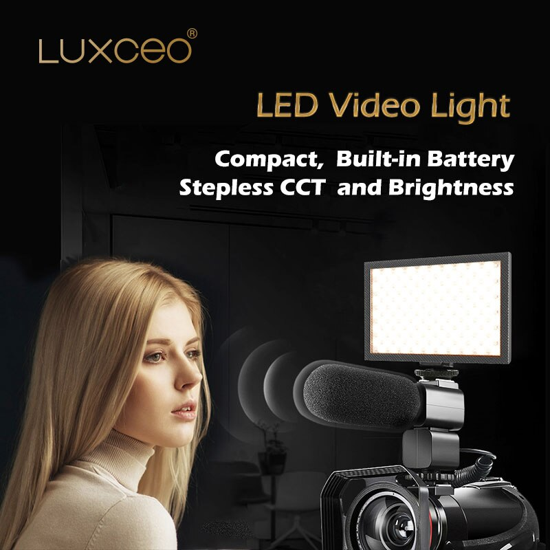 Cámara foto LED lámpara de luz de vídeo bicolor batería incorporada CCT Stepless y brillo 1000LM para cámara DV videocámara