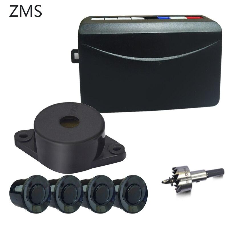 Sem exibição do carro auto parktronic com 4 sensor smartour estacionamento local reverso radar ultra-sônico detecção sistema de radar à espera