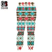 ogkb fashion 3d printed sweatpants funny geometric pattern mens jogger pants casual pixel style stripe fitness sports trousers