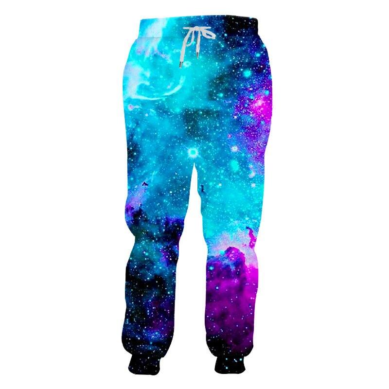 Hombres/mujeres Galaxy estampado del espacio 3D Joggers pantalones casuales Unisex deporte pista Baggy pantalones amantes corredor pantalones largos de 6XL