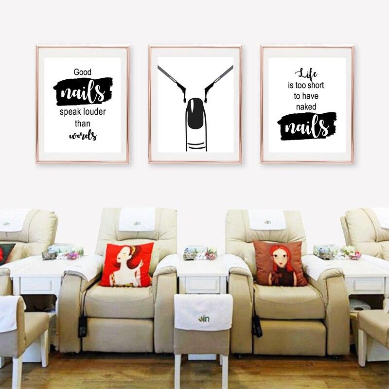 Cuadro sobre lienzo para pared, arte de uñas, belleza, decoración de pared del salón, salón de uñas, citas de esmalte de uñas, carteles e impresiones, arte de uñas, regalo de artista