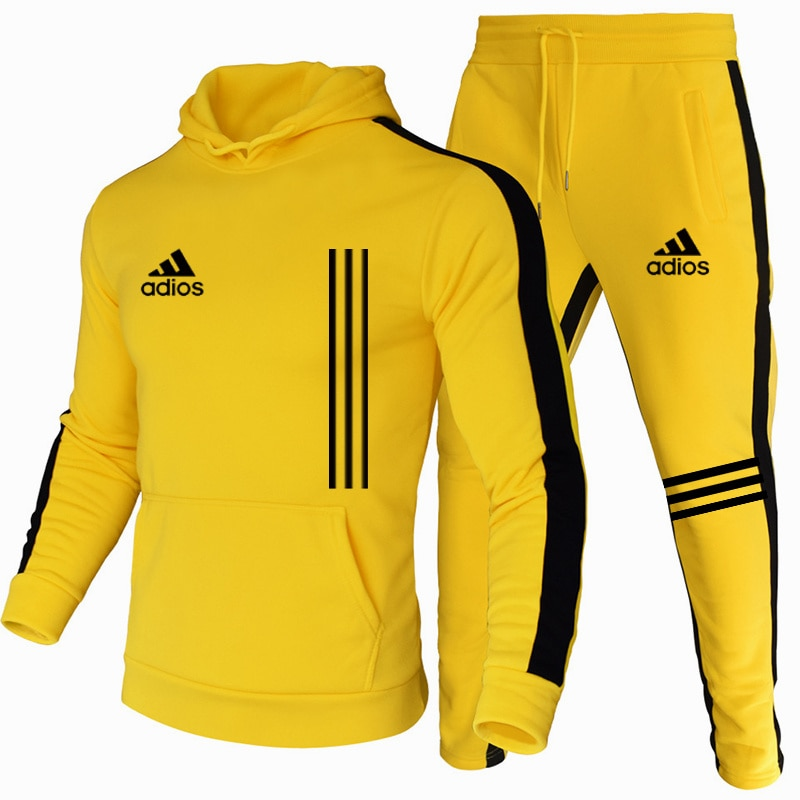 New men's suits, stylish men's sportswear track suits, men's autumn and winter hoodies + sweat pants