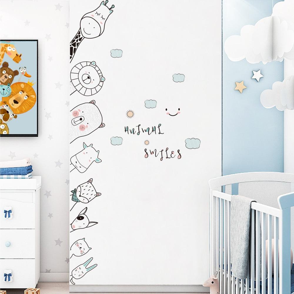 DKtie 40x60 см наклейки для детской комнаты различные рисунки милые Мультяшные наклейки на дверь угловые наклейки для детской комнаты украшение для дома