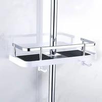 Plateau de douche salle de bain  tige de levage  support de pomme de douche  rangement  organisateur  etagere a serviettes de shampoing  a un niveau  maison