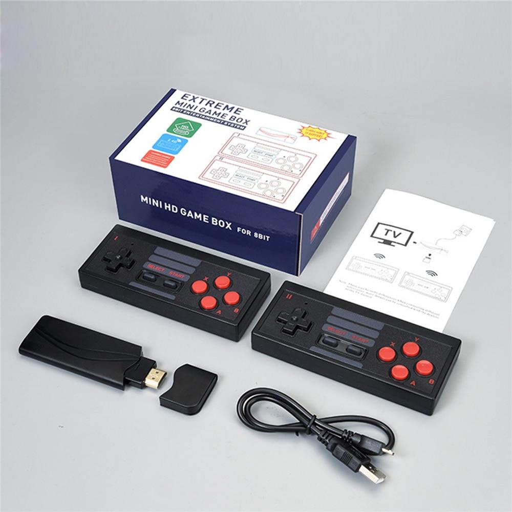 Game Console HDMI HD Home 4K TV Dual Gamepad Game Stick USB 8 Bit Wireless Mini Handheld Console Built-in 628 Classic Games