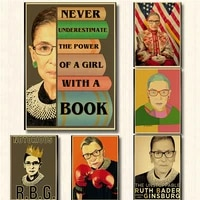 nordic poster prints pictures u s judge rbg ruth bader ginsburg retro anime wall art canvas painting living room home decor
