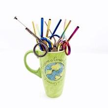 Stainless Steel Straws Reusable Tumbler Drinking Multi-Colored Rumblers Beverage metal straw paille inox boba canudo pajitas