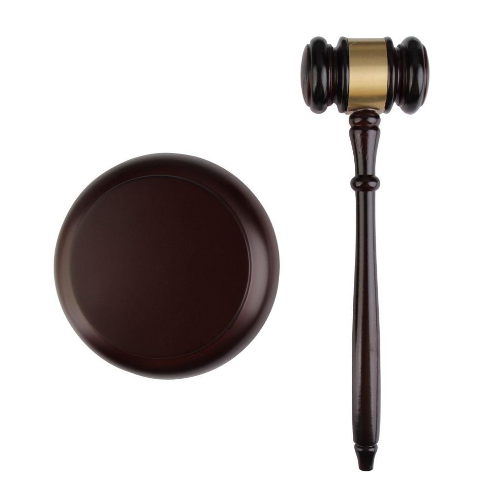 Hecho a mano de madera de martillo para subastas para abogado juez artesanal martillo Tribunal martillo para subasta Decoración